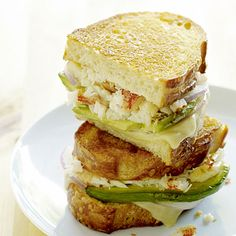Crab and Avocado Grilled Cheese on Sourdough