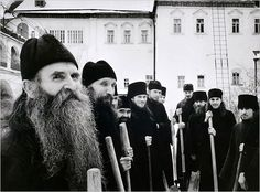 Russian Orthodox Monks, Zagorsk, 1958.  Photo: Cornell Capa/Magnum Photos, courtesy of the International Center of Photography