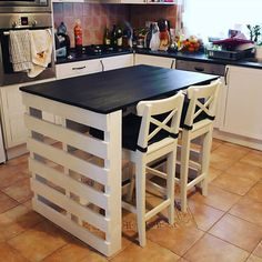 [New] The Best Home Decor (with Pictures) These are the 10 best home decor today. According to home decor experts, the 10 all-time best home decor. Wooden Pallet Furniture, Diy Furniture Projects, Wood Pallets, Furniture Design, Cheap Home Decor, Diy Home Decor, Kitchen Furniture, Kitchen Decor, Pallet Kitchen Island