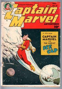 Captain Marvel Adventures 95 1949 Fawcett Shazam Golden Age Comic G G   eBay