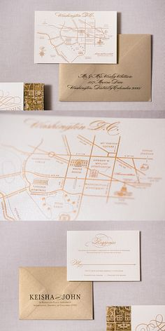 Washington DC themed wedding invitations with an embossed skyline and custom printed pocket style invitations with a DC area map. Map Wedding Invitation, Pocketfold Invitations, Bespoke Wedding Invitations, Personalised Wedding Invitations, Personalized Wedding, Wedding Stationery, Custom Invitations, Invitation Cards, Wedding Matches