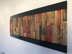 Tableau abstrait bois huilé wall unit in 2019 художественный Wood Mosaic, Mosaic Wall Art, Mural Wall Art, Diy Wall Art, Wood Wall Art, Wall Tiles, Reclaimed Wood Projects, Art Decor, Decoration