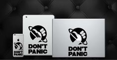 Don't Panic! Show your love for Hitchhiker's guide and turn your phone, laptop or anything else into a Guide of your own!  Available Here: https://www.etsy.com/listing/252204851/hitchhikers-guide-to-the-galaxy-dont?ref=shop_home_active_4