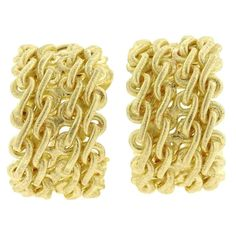Buccellati Gold Link Hoop Earrings 1
