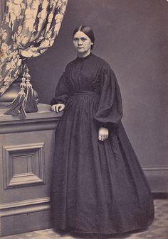 In Mourning, Albumen Carte de Visite, Circa 1865