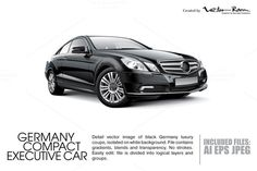 Check out Germany Compact Executive Car by Vector Room on Creative Market