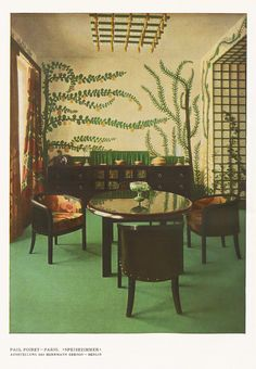 Paul Poiret, Dining room, 1913. Paris. From magazine Kunst & Dekoration. Via University of Heidelberg.