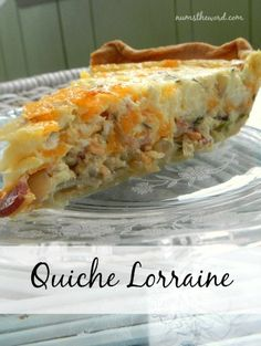 Quiche Lorraine - If you love Quiche, then you'll love this!  This is hands down the best quiche I have ever had. Perfect for breakfast or brunch, everyone will love it! #breakast #brunch #mothersday #quiche #cheese #onion #bacon #pie #savorypie #savory #recipe #numstheword Breakfast Dishes, Breakfast Casserole, Breakfast Recipes, What's For Breakfast, Breakfast Quiche, Quiches, Omelettes, Empanadas, Frittata