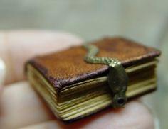 Medieval Miniature books by American artist of applied art Ericka VanHorn