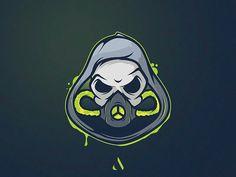 Gas mask Mascot by Aaron E Logo Esport, Art Logo, Youtube Logo, Game Logo Design, Esports Logo, E Sport, Skull Logo, Mascot Design, Logo Images