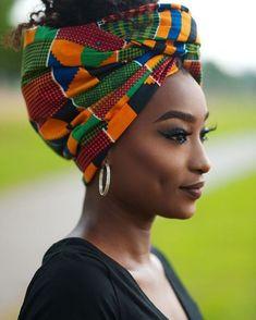 2019 Lovely Ankara Headwrap styles Beauty From West Africa - Nigerian African Beauty, African Women, Maquillage Black, My Black Is Beautiful, Beautiful Women, Mode Turban, Moda Afro, Pelo Afro, African Head Wraps