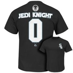 Men's Majestic Chicago White Sox Star Wars Jedi Knight Name and Number Tee $14.00