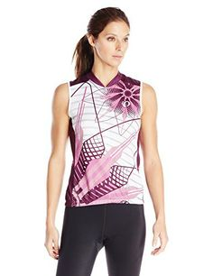 Pearl Izumi - Ride Women's Select LTD Sleeveless Jersey, Flower Meadow Mauve, X-Large - http://ridingjerseys.com/pearl-izumi-ride-womens-select-ltd-sleeveless-jersey-flower-meadow-mauve-x-large/