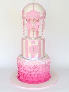 All Things Sweet Carousel Cake, Fake Cake, Cupcake Heaven, Circus Party, Birthday Cake Girls, Cake Designs, Table Lamp, Sweets, Shapes