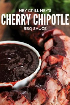 This Cherry Chipotle BBQ Sauce is everything you need in a good, homemade sauce. Rich and sweet, with a bright punch, and the most gorgeous red color ever!