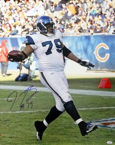 Red Bryant Autographed 16x20 Photo Seattle Seahawks