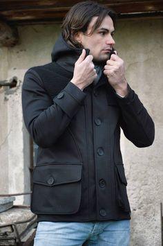 Lost In Albion Art MILTON Wool + Waxed Cotton Coat