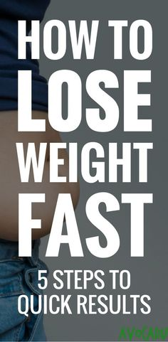 How to lose weight fast - 5 diet tips for weight loss! http://avocadu.com/how-to-lose-weight-fast/