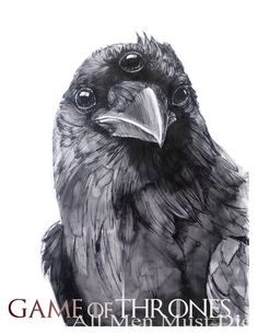 Game of Thrones Three Eyed Raven Poster by eringarey on Etsy