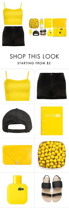 """""""50 Shades of Yellow"""" by ashola18 ❤ liked on Polyvore featuring WearAll, River Island, Billabong, Mead, Alexander Wang, Lacoste, yellow and yoins"""