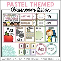 Pastel Classroom DecorThis set has over 30 different resources to decorate your classroom! It includes over 500 easily printable pieces and editable files to match.This set includes: Printable Decor (PDF Files)-Alphabet Cards (Print & Cursive)-Alphabet Line (Print & Cursive)-Alphabet Posters-Awards (Merit, Student of the Week/Month, Birthday)-Bathroom Passes-Behavior Chart-Birthday Display-Bunting Sets (A-Z, 0-9, Ordinal Numbers, Heart)-Calendar Set (Months of the Year, Days of the We...