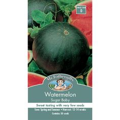 Mr Fothergill's Sugar Baby Water Melon Fruit Seed | Bunnings Warehouse