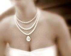 Collar nupcial de la declaración collar de la boda por treasures570