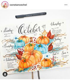 15 Cozy Bullet Journal Layouts Perfect For Fall - Bullet Planner Ideas 15 Cozy Bullet Journal Layouts Perfect For Fall - Nikola Kosterman Autumn Bullet Journal, Bullet Journal Hacks, Bullet Journal Mood, Bullet Journal Spread, Bullet Journal Layout, Bullet Journal Inspiration, Journal Ideas, Bullet Journal Doodles Ideas, Bullet Journal Halloween