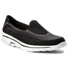 Boty SKECHERS - Go Walk 2 13590/BKW Black/White