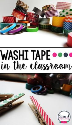Washi tape became all the rage a few years ago, and when I discovered the different ways to use it in the classroom, I was thrilled. Check out these awesome Ideas for using washi tape in the classroom. Teachers this one is for you! Classroom Organisation, Classroom Setup, Classroom Design, Classroom Displays, School Classroom, Diy Organization, Classroom Hacks, Classroom Management, Diy Classroom Decorations
