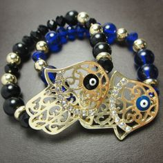 Hamsa hand metallic bracelet by Elsole on Etsy, $6.99