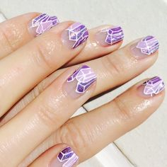 Amethyst tips inspired by @ciaomanhattan2012 by @ellie_harry!  #Padgram