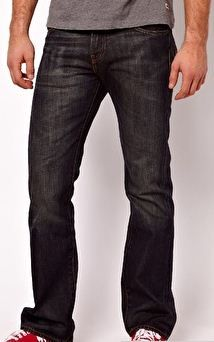Jeans bootcut nero polvere