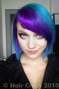 blue and purple streaks