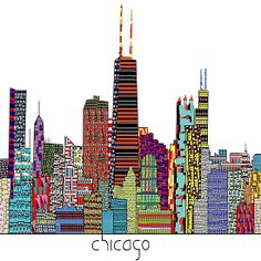 Chicago city skyline
