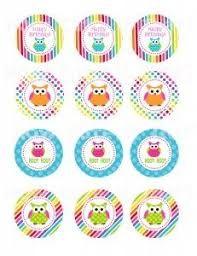 Resultado de imagen para owl cupcakes toppers