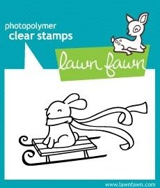 Lawn Fawn WINTER BUNNY Clear Stamp at Simon Says STAMP!