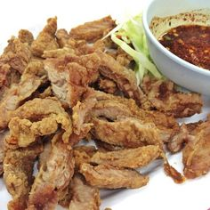 คอหมูทอด Thai food