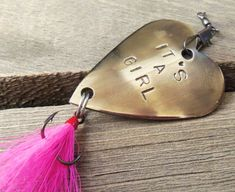 It's a Girl It's a Boy Birth Announcement by CandTCustomLures, $18.00