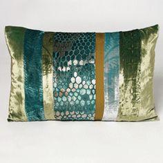 Patchwork Pillow-Aqua