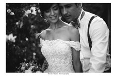 stunning Adi with our one and only Heleny dress! #bridedress #weddingdress #cuture #lace #off the shoulder style #classic #elegantchic #handcraft #bridalcouture