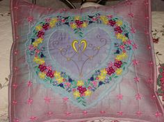 Bridal cushion made with Graceful Embroidery designs