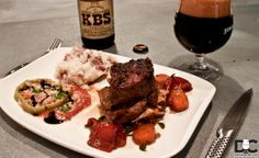 Never miss lunch at Founder's Brewing Co. Beef Steak Recipes, Beer Recipes, Rib Recipes, Breakfast Stout, Cooking With Beer, Braised Short Ribs, Recipe Using, Craft Beer, Brewing