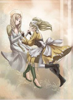 Em and Lissa - Eternal Bonds Artbook by Velurie.deviantart.com on @DeviantArt