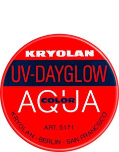 Aquacolor UV-Dayglow 8 ml | Kryolan - Professional Make-up