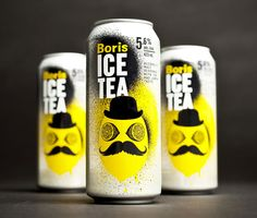 This made me smile. :-) Boris Ice Tea Package design