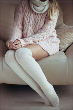 warm and cosy ~ Light Jacket, Knee Socks, Knitting Socks, Playing Dress Up, I Dress, Cozy, Winter, Boots, Lingerie