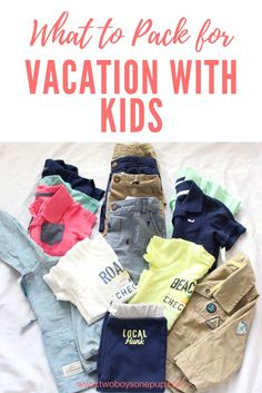 What to pack for vacation with kids or baby! Heading on a spring break trip, baby's first vacation, or to visit family for Easter? Check out what we pack and see our picks from @cartersbabykids for our little ones! #lovecarters #sponsored