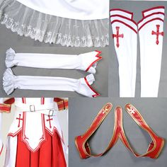 Sword Art Online Asuna Yuuki Cosplay Costume  by RedstarCosplay, $96.00 (i WILL cosplay this.)