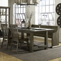 Magnussen Furniture Karlin 4 Piece Dining Set